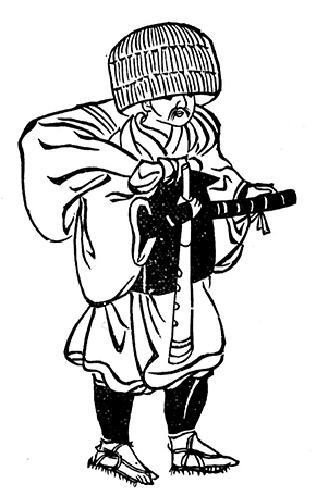 Figure 8: Example of a komusō outfit.